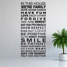 House Rules - Wallstickers fra NiceWall.dk